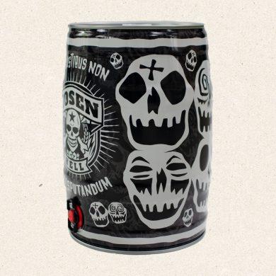 "Partyfass ""Happy Skull"" grau"