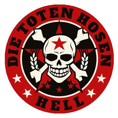 Aufkleber Hosen Hell, rund